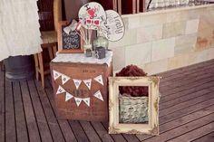 Wedding photo booth idea.