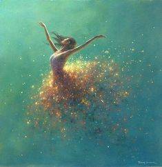 Morning Sparkle by Jimmy Lawlor Jimmy Lawlor, Dance Paintings, Prophetic Art, Artwork Images, Whimsical Art, Oeuvre D'art, Painting Inspiration, Amazing Art, Watercolor Art