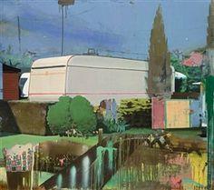 Matthias Weischer - WOHNWAGEN, 2001, Oil on canvas