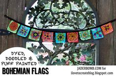 DIY STEP BY STEP: How to make Bohemian Flags (very cool)