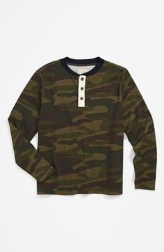 Peek Camo Henley Shirt (Toddler Boys, Little Boys & Big Boys) available at #Nordstrom