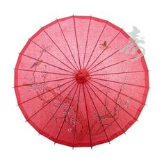"32"" Red Cherry Blossom Paper Parasol ❤ liked on Polyvore featuring umbrellas"