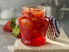 Confiture de fraises et mangues à la cassonade