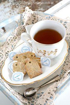 Earl Grey tea bag biscuits (cookies)