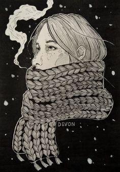"""Art by Devon """"Cold"""""""