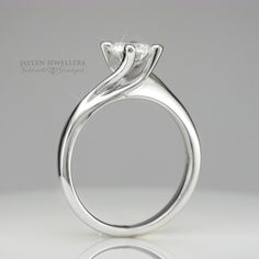 White Gold Twist Engagement Ring
