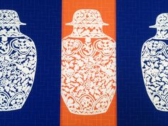 The Pink Pagoda: Orange and Navy