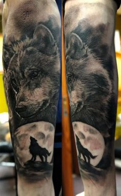 Wolf Moon Tattoo