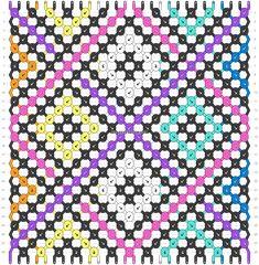 Normal friendship bracelet pattern added by KrazyKnotz. Friendship Bracelets Tutorial, Bracelet Tutorial, Friendship Bracelet Patterns, String Bracelet Patterns, Diy Braids, Braided Bracelets, How To Look Better, Weaving, Hobby Ideas