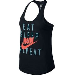 611fdebe041e18 Nike Women s Eat Sleep Run Repeat Running Tank Top