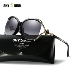 #FASHION #NEW SHYBIRD8403 Cat Eye Shield Women's Sunglasses Polarized Lens HD Hot Sale Glasses Frame Inset Pearl Women's Sunglasses UV400