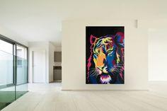 Öl Gemälde 'Illuminated Tiger' 120x180cm