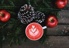 😲 Check out this free photo3 Apples  and 2 Pine Cones With Cup of drink on Table    🆗 https://avopix.com/photo/35433-3-apples-and-2-pine-cones-with-cup-of-drink-on-table    #fruit #food #berry #healthy #christmas #avopix #free #photos #public #domain