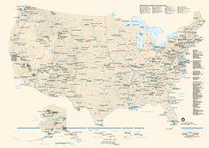 Map Of US National Parks National Parks Kids Encyclopedia - Us national parks map