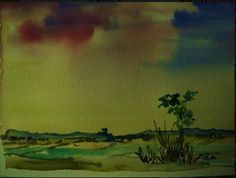 Watercolor ,original by Cezary Zyndzo