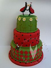 ladybug cake www. Bee Cakes, Cupcake Cakes, Cupcakes, Wedding Cake Boards, Wedding Cakes, San Antonio, Professional Cake Decorating, Cake Eater, Ladybug Cakes