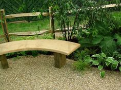 beautiful gardens | Curved Wooden Bench for Beautiful Garden - Home Design Ideas - 885