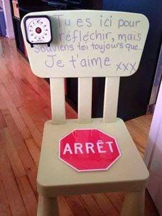chaise de Réflexion + timer pour enfant summergé par ses émotions = bonne astuce pour un tdah