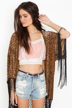 Lace Crop Top - Blush