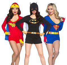 Galaxy Fantasy: Wonder Woman, Batgirl, Supergril o Harley Quinn ¿que disfraz te gusta más?