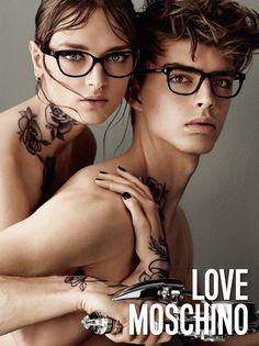 Daga Ziober and Daan van der Deen star in Love Moschino's fall-winter 2015 campaign