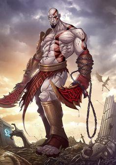artist, artwork, digital, Digital Art, Fan, illustrations, Inspiration, tv shows, video games,God of War 3