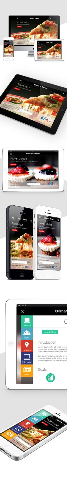 Culinary Treats - Website on Behance