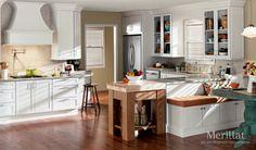 Merillat Classic� Bellingham in Maple Cotton - Merillat - like the cabinet over fridge, glass doors