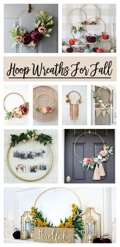 Awesome Hoop Wreath Ideas For Fall! Love so many of these. Care Skin Condition and Treatment Oil Makeup Diy Fall Wreath, Wreath Crafts, Fall Diy, Fall Wreaths, Wreath Ideas, Floral Wreaths, Summer Wreath, Diy Shows, Floral Hoops
