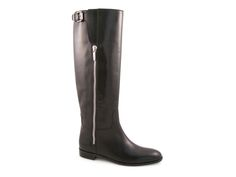 Sergio Rossi Varenne knee high boots in black leather - Italian Boutique €579