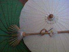 Waterproof Cotton Canvas Parasols 28 with bamboo by MiaSombrilla