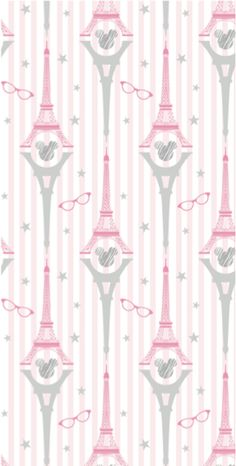 Parisian Minnie Mouse themed pattern by Yorkshire Bear Graphic Design and Illustration