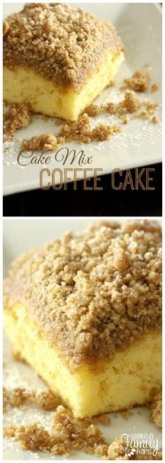 I am a big fan of coffee cake. I am even a bigger fan of it when I can skip steps to get it done quicker! This cake mix coffee cake couldn't be easier! via NOTE: It's better with White Cake! Cake Pops, Cake Mix Fudge, Cake Mix Coffee Cake, Sour Cream Coffee Cake, Cake Mix Desserts, Cake Mix Recipes, Easy Desserts, Dessert Recipes, Dessert Ideas