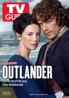 Outlander cover of TV Guide… There is a reason over 25 million books were sold, because it is awesome… actually there are no words to describe it. so scratch that bit.