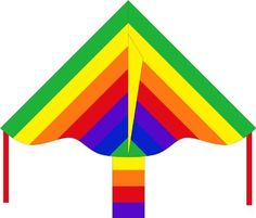 """HQ Kites Eco Line: Simple Flyer Rainbow 33"""" Kite by HQ Kites. $10.99. From the Manufacturer                Our Eco Line kite range provides excellent value in a fun and easy to fly design. All kites are made of durable ripstop polyester and come ready to fly with line and handle.                                    Product Description                A 36"""" rainbow simple flyer kite."""