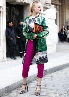 Street Chic: Paris Hanne Gaby in Dries Van Noten Photo: Courtney...   via ELLE http://stylesta.lk/emWCW