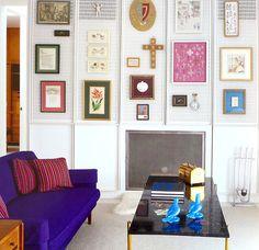 Miller House in Columbus, Indiana by Eero Saarinen-Interior by Alexander Girard Mid Century Modern Design, Modern House Design, Purple Sofa, Miller Homes, Home Bedroom, Master Bedroom, Midcentury Modern, Building A House, Columbus Indiana