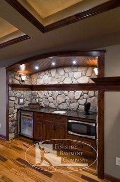 How to Finish Your Basement and Basement Remodeling Finishing your basement can almost double the square foot living space of your home. A finished basement can include new living space such as a r… Basement Bar Plans, Wet Bar Basement, Basement Bar Designs, Man Cave Basement, Basement Remodel Diy, Basement Bedrooms, Basement Remodeling, Basement Ideas, Basement Kitchen