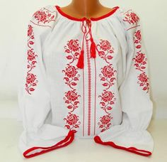 Romanian Peasant Ethnic Top Tunic Embroidered Blouse all custom sizes linen or cotton Bohemian Tops, Boho, Romanian Women, Pakistani Fashion Casual, Kids Winter Fashion, Beaded Cross Stitch, Peasant Blouse, Embroidered Blouse, Pakistani Dresses