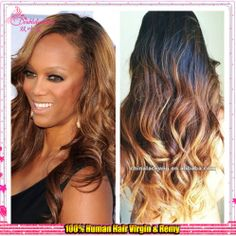 high fashion indian remy human hair layered ombre colour full lace wig(China (Mainland))
