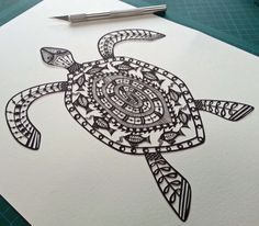 Turtle papercut by Suzy Taylor (Folk Art Papercuts)