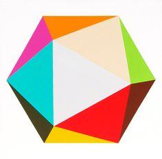 magna paint!    http://www.etsy.com/listing/91666309/original-painting-icosahedron-30-x-30
