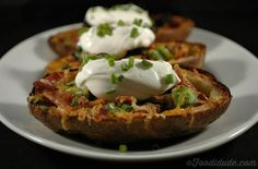 Crispy Jalapeno-Bacon Potato Skins • Foodidude.com