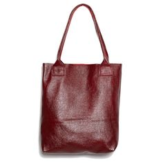 To Cradle handmade leather oxblood burgundy floppy shopper TOTE lap top bag, can be PERSONALIZED