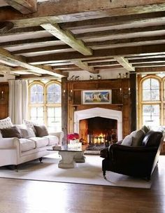 Love the beams and the natural light.