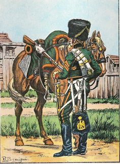 French, Imperial Guard, Chasseurs a Cheval, Tenue de Campagne 1812, as modified during the campaign