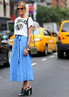 Guita Moda: Que sapato usar com saia midi jeans: guia completo