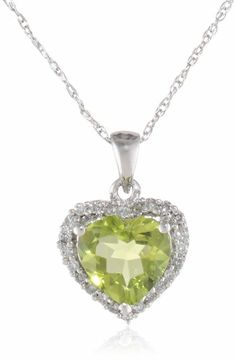 10k White Gold, August Birthstone, Peridot and Diamond Heart Pendant Amazon Curated Collection,http://www.amazon.com/dp/B000V229DI/ref=cm_sw_r_pi_dp_vfKotb0SGKJ9ZKYW