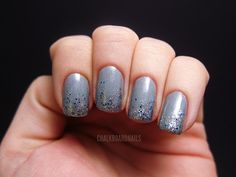 Grey Nail Polish Designs Awesome the Classic Grey Polish Stylish 75 Picks for Grey Nail Grey Nail Art, Grey Nail Polish, Gray Nails, Glitter Nail Polish, Gradient Nails, Grey Nail Designs, Winter Nail Designs, Simple Nail Designs, Nail Polish Designs