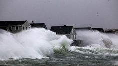 March Nor'easter is hammering the coastal areas of the South Shore and Cape Cod.